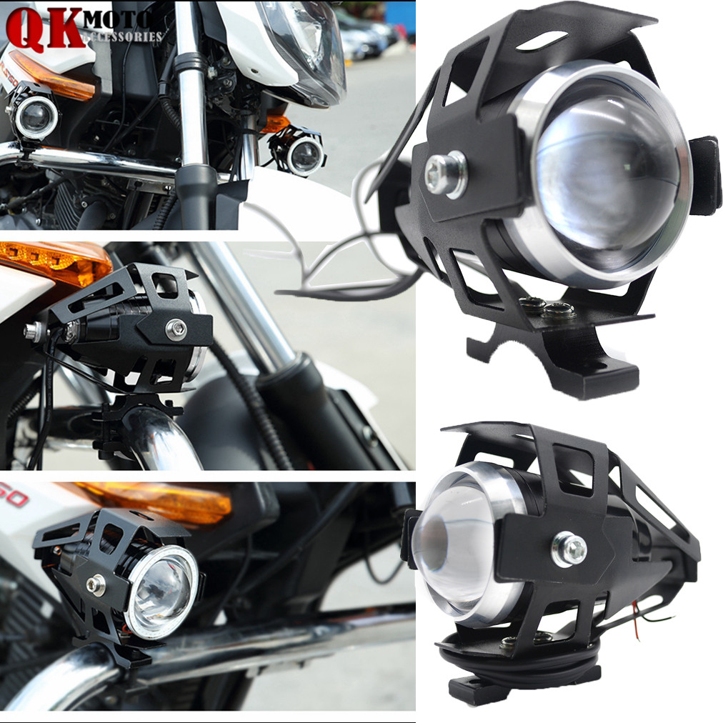 Motorcycle led headlight driving spot head lamp fog light for ktm bajaj pulsar 200 ns 1190