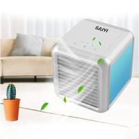USB Mini Portable Air Conditioner Humidifier Purifier Desktop LED 7 color Air Cooling Fan Car Air Cooler Fan For Car And Office