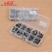 80PCS/Box Guide Ring For Fishing Rod Stainless Steel Guide Oval Fishing Rod Eyes Guides Line Rings Pole Repair Kit new 80pcs fishing rod guide guides tip set repair kit diy eye rings different size stainless steel frames with plastic fish box