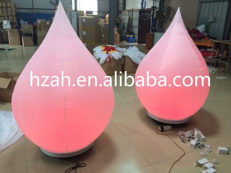 Decoration Inflatable Drop Balloon with LED Light giant inflatable balloon for decoration and advertisements