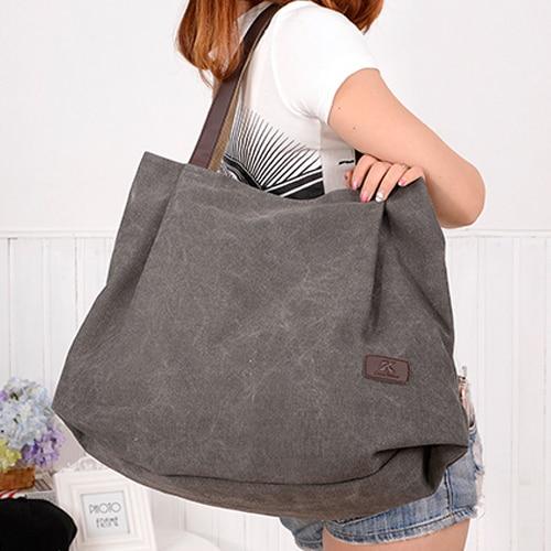 New simple big capacity design canvas  women messenger bag fashion girls handbag shoulder bag 2016 new simple color block rivets design women s shoulder bag