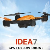 Hot Sale Le idea IDEA7 Foldable RC Drone 2.4G 720P Camera Quadcopters with GPS Altitude Hold / Follow / Waypoints / Auto Return