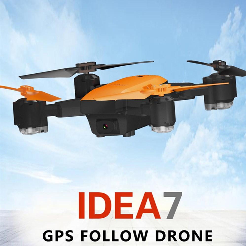 Le-idée IDEA7 Pliable RC Drone 2.4G 720 P Caméra Quadricoptères avec GPS Altitude Hold/Suivre/ waypoints/Retour Automatique