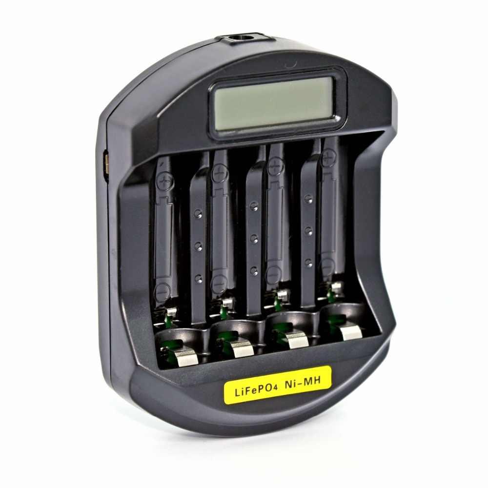 Soshine C5 LiFePO4 14500 10440 متولى حسن AA AAA LCD الرقمية شاحن ذكي 110-240 فولت 4 فتحات البطارية سريع السريع شاحن الاتحاد الأوروبي الولايات المتحدة