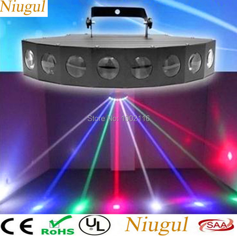 Niugul High Brightness LED Eight-Beam Fan Beam Bar Light Beam Laser RGBW Scanner DJ Club Disco Light Scanner Eight Eyes LED Lamp chauvet dj beam bar
