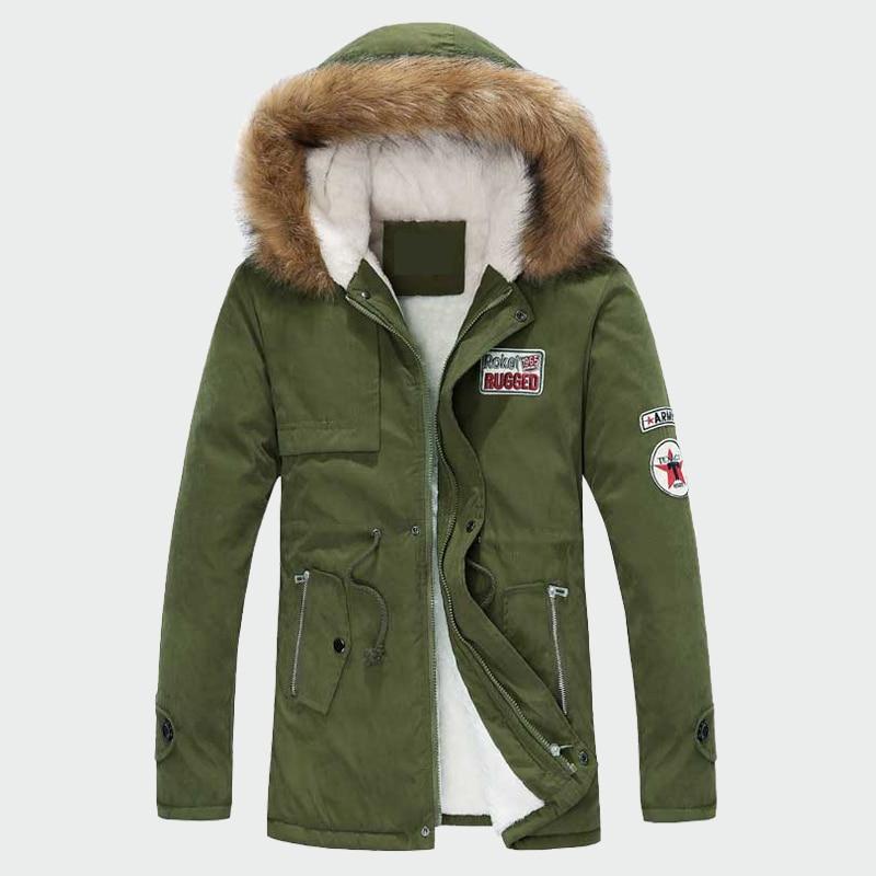 Winterjas Heren Merk.Mannen Dikke Winterjassen Warme Mannelijke Jassen Gewatteerde Casual