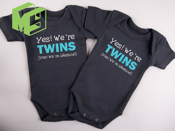725656ff865 Herobaby Twins Baby clothes Set Yes