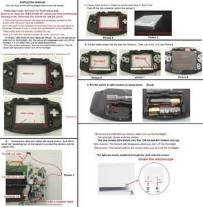 Image 4 - New Version Frontlit Frontlight Front Light Kit For GameBoy Advance For GBA