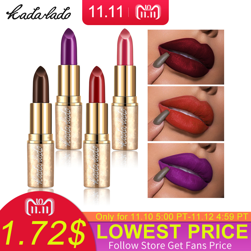 KADALADO Brand Matte Lipstick Waterproof Red Long Lasting Moisturizing Nude Lipstick Set Kit Pencil Lip Stick Makeup Cosmetics
