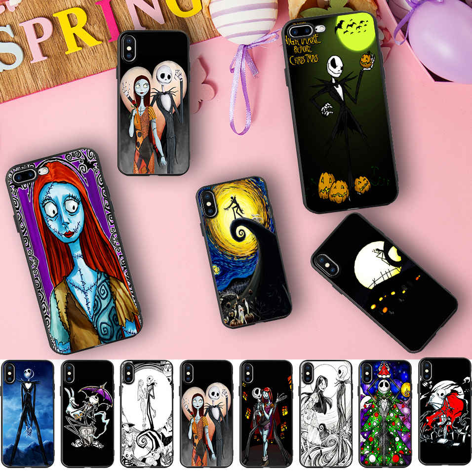 Us 2 59 35 Off Minason Halloween Sally Pumpkin King Jack Skellington Soft Silicone Phone Case For Iphone X 5 S 5s Xr Xs Max 6 6s 7 8 Plus Cover In