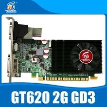 Tarjeta Gráfica de vídeo Veineda GT620 2 GB DDR3 Apoyo Normal de PC y PC de Bajo Perfil InstantKill GT610, HD6450 Para nVIDIA Geforce Juegos