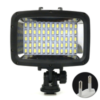 Super Bright 60 LED Dimmable 40m Diving Fill Light POV Flash Waterproof Photography Underwater For GoPro