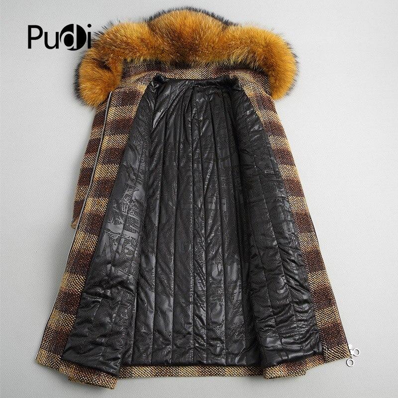 Veste Manteau Pardessus Chaud A18125 Fourrure Avec Laine Collier Pudi Raton Femmes Laveur Véritable De Lady Hiver shxBQrdotC