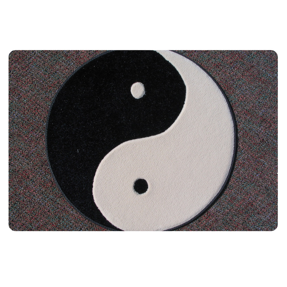 Microfiber Yin and Yang Gossip Taiji Diagram Carpet Tai chi Octagonal Buddhist Yoga Carpets Ordered Black And White Rugs ...
