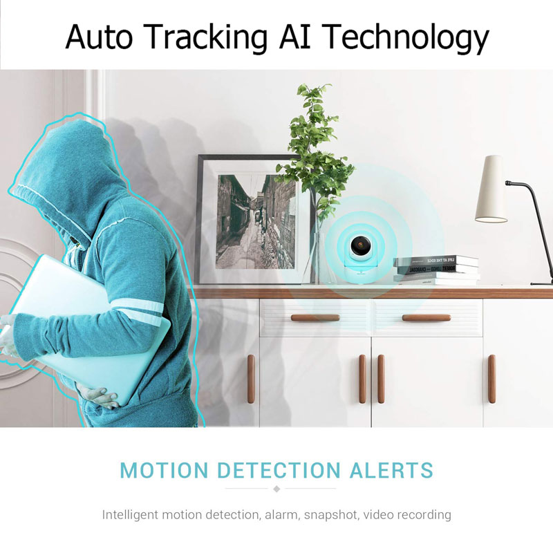 Wireless IP Baby Monitor With Night Vision And  Auto Tracking check on your Baby At Home 4