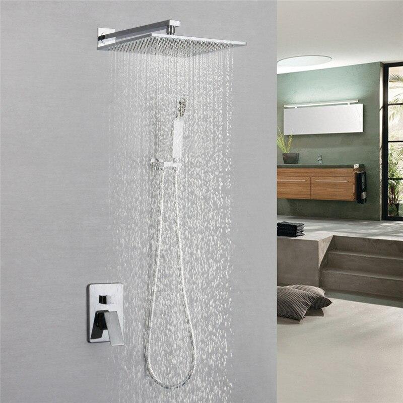 Ensemble de robinet de douche en laiton pour salle de bain robinet de douche en Chrome pour pluie et pluie robinet de douche pour grue mélangeur chaud et froid robinet de douche 10
