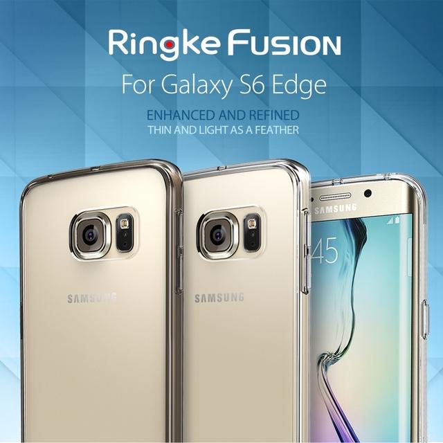 Fusão ringke originais para samsung galaxy s6 edge capa de silicone premium casos à prova de choque suave tpu limpar back capa slim fit