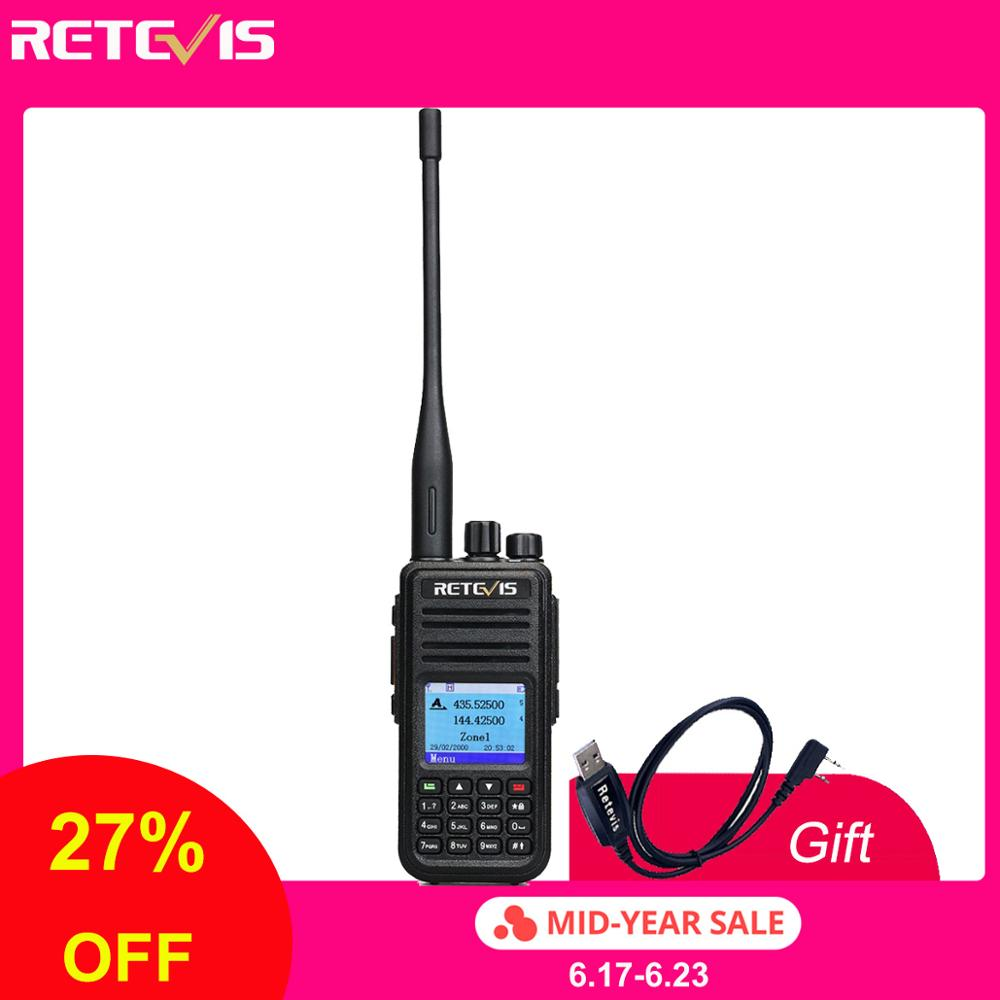 Talkie-walkie RT3S double bande DMR Radio UHF VHF Radio GPS DCDM TDMA Ham Radio Staion double fente horaire