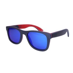 Image 4 - BerWer 2020 men wood Sunglasses New Polarized women black Skateboard Wood sunGlasses wooden Eyewear