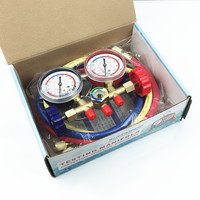 Universal A/C Air Conditioning Cool System Testing Meter Air Conditioning Refrigerant High Low Pressure Gauge 536G