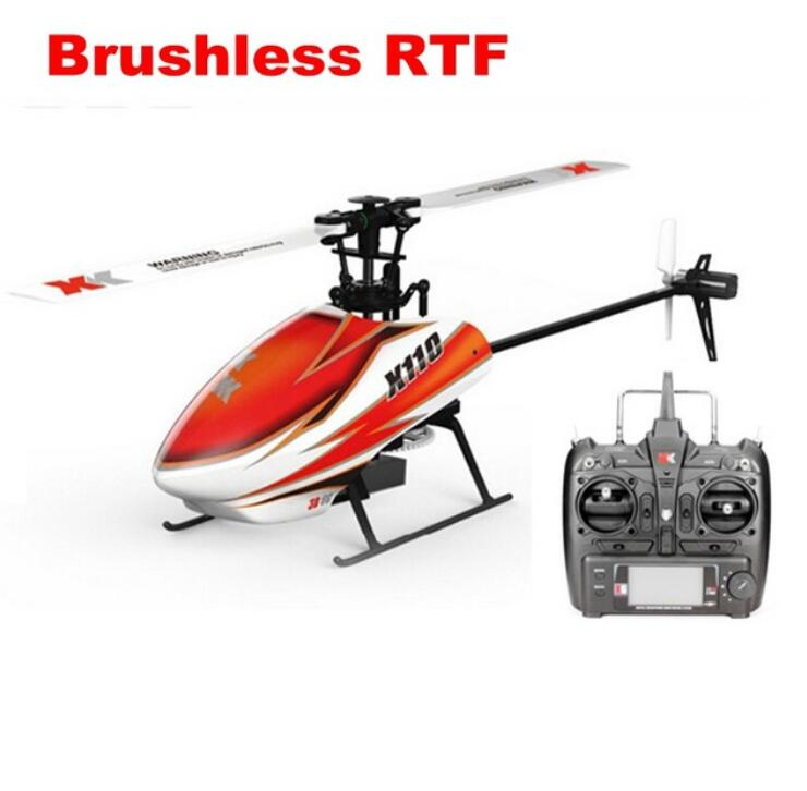 XK K110 Blash 6CH Brushless 3D 6G System RC Helicopter RTF Toy Compatible with FUTABA S-FHSS original xk k124 bnf without tranmitter ec145 6ch brushless motor 3d 6g system rc helicopter compatible with futaba s fhss