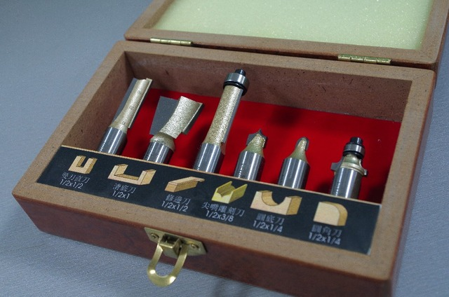 Woodworking Tool Set 6 Pcs Particleboard Special Router Bit Set