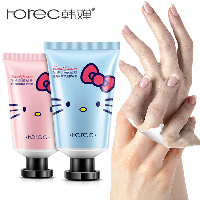 ROREC Hand Cream Moisturizing Lotion Nourishing Care Anti Chapping Aging Hydra Whitening Plant Flavor