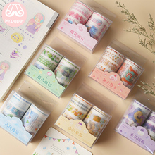 Mr Paper 14 Designs 6pcs/set 5/15/30/60mm Cute Cartoon Colorful Washi Tapes Scrapbooking DIY Deco Creative Kawaii Masking
