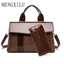 Luxury Handbags Women Bags Designer 2019 Crocodile Pattern PU Leather Shoulder Bags for Women 2019 Famous Brand Ladies Hand Bags zmqn luxury handbags women bags designer ladies hand bags female leather famous brand chain bag for women 2018 high quality a910