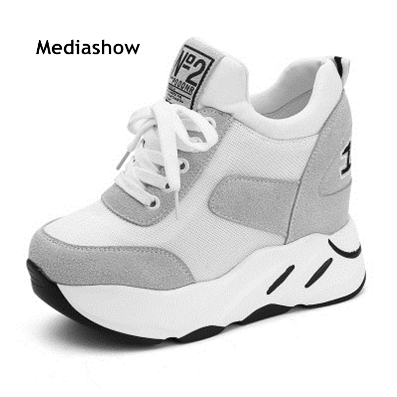 New 2019 Spring High Heels Ladies Casual Shoes Women Wedges Platform Shoes Female Chaussure Femme