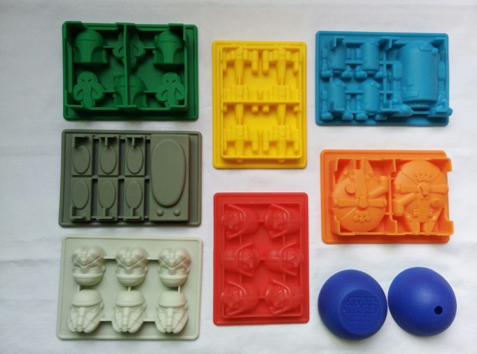 NEW 8pc Star Wars Ice Tray Silicone Mold Ice Cube Ice Cream Makers Chocolate Fondant Mould