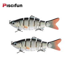Piscifun 2 Pieces Fishing Lure 10cm 20g 3D Eyes 6-Segment Fishing Hard Lure Crankbait With 2 Hook Fishing Baits Pesca Cebo