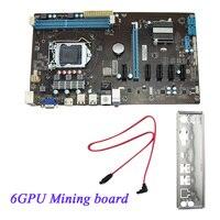 Mining Motherboard H81 6GPU 3 0 Adapter PCI E Express Riser Card Support DDR3 Mainboard PCI