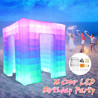 Protable Inflatable LED Photo Tent Inflatable Booth Tent Inflatable Wall Backdrop Inflatable Tent With Air Pump for Party