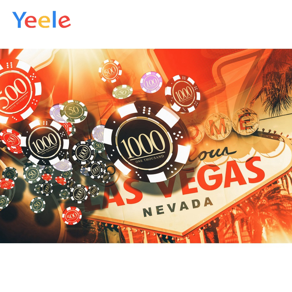 Yeele Casino Chips Dice LAS VEGAS Boss Party Scene Photography Backgrounds Personalized Photographic Backdrops For Photo Studio