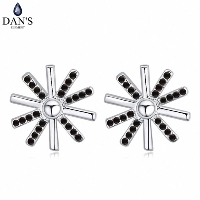 DANS 5 Colors Real Austrian crystals Stud earrings for women Earrings s New Sale Hot Round 120701