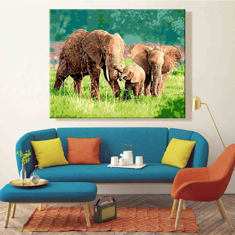 paint by number art painting by numbers Elephant dog Fox Rabbit Giraffe Animal Lovely manual DIY  Picture hanging in bedroompaint by number art painting by numbers Elephant dog Fox Rabbit Giraffe Animal Lovely manual DIY  Picture hanging in bedroom