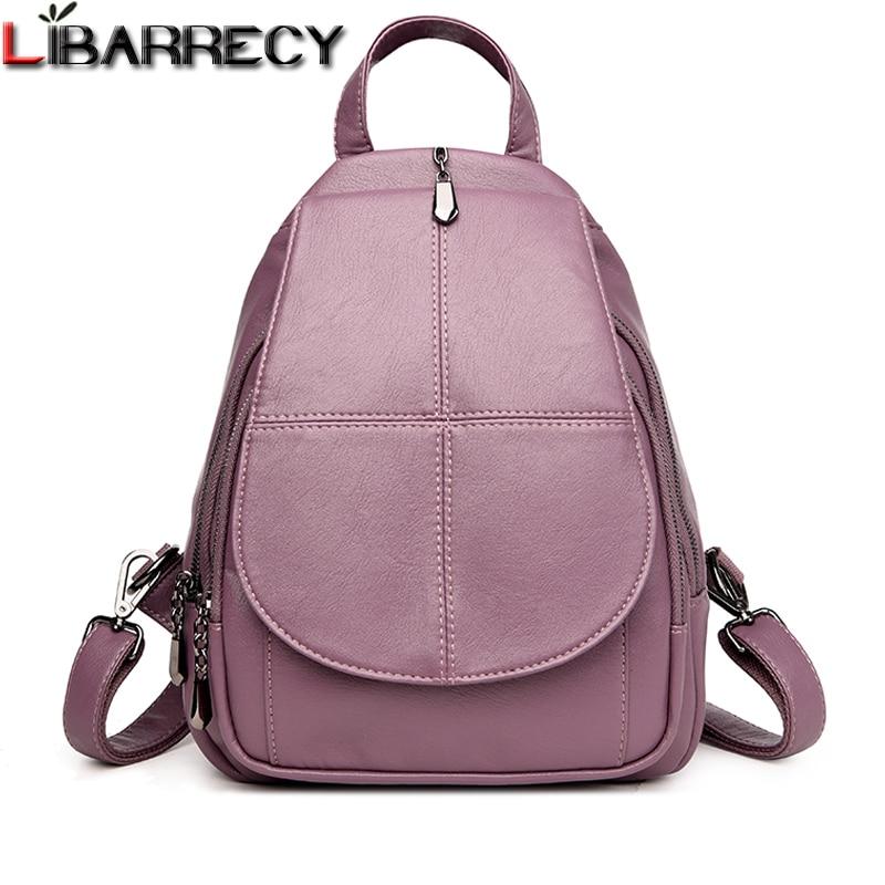 20384dd5cd58 Купить Модный простой рюкзак женский высокое качество мягкая кожа ...