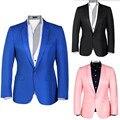 Новейшие разработки мужские костюмы куртка одна кнопка розовый черный жених смокинги куртка высокого качества формальные деловые костюмы куртка