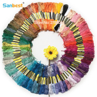 Sanbest 100 Pieces Multi Color Cross Stitch Embroidery Threads Crafts Floss Sewing Threads
