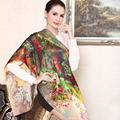 SALUTTO 2016 Autumn And Winter High Quality 100% Silk Scarf Foulard Women Luxury Breathable Bandana Bufanda