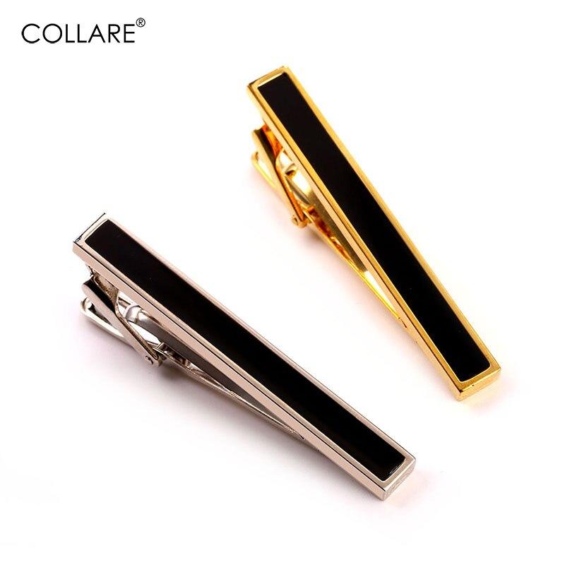 Collare Tie Clip Easy Jednoduchý jednoduchý design pro muže Zlato / Stříbrná barva Se Smaltovanými Spony Klipy Pro Muže Tie Bar Muži Bižuterie TC146