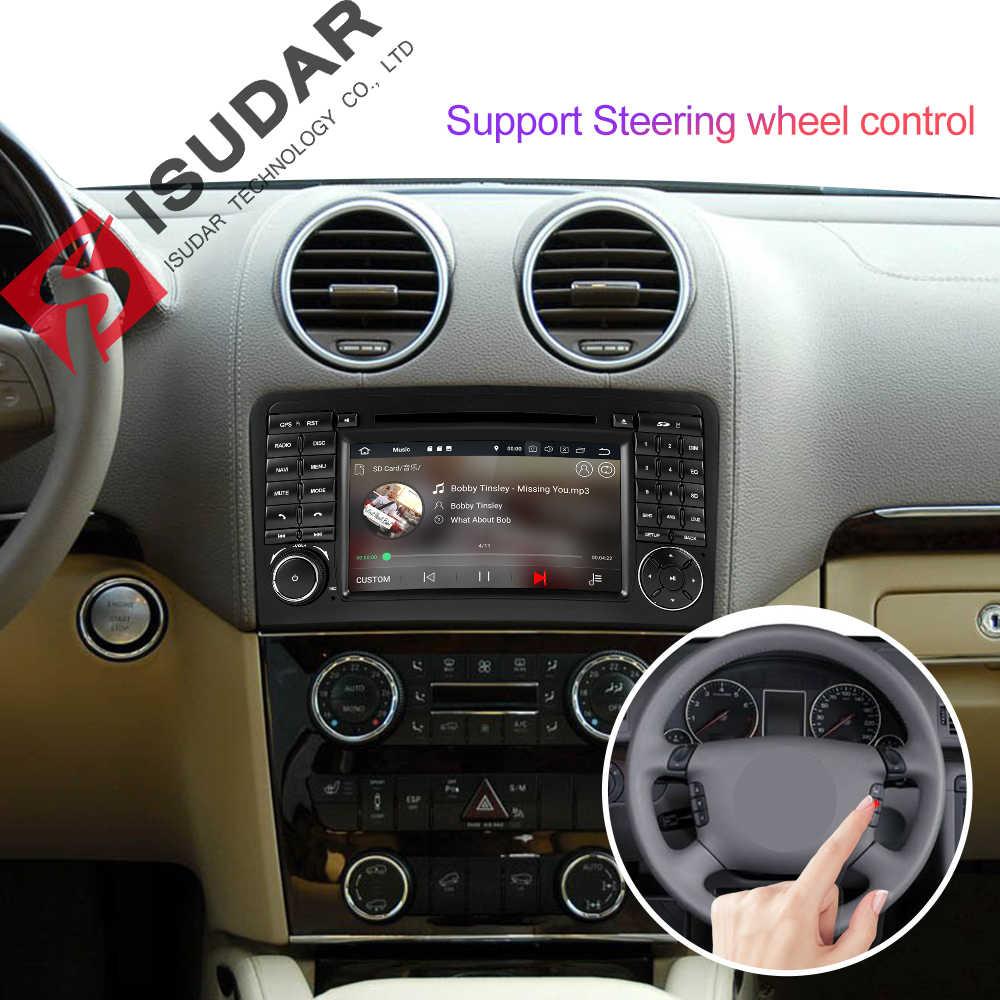 Isudar 2 DIN Máy Nghe Nhạc Đa Phương Tiện GPS Android 9 Đầu DVD Cho Xe Mercedes/Benz/Ml/GL Đẳng Cấp w164 ML350 ML500 GL320 Đài Phát Thanh DSP Đầu Ghi Hình