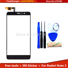 tools+3M adhesive Original Touch Replacement For Xiaomi Redmi Note3 Hongmi Note 3 Touch Screen With Digtiizer Black FreeShipping