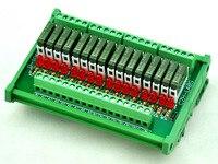 Slim DIN Rail Mount DC5V Source PNP 16 SPST NO 5A Power Relay Module PA1a 5V