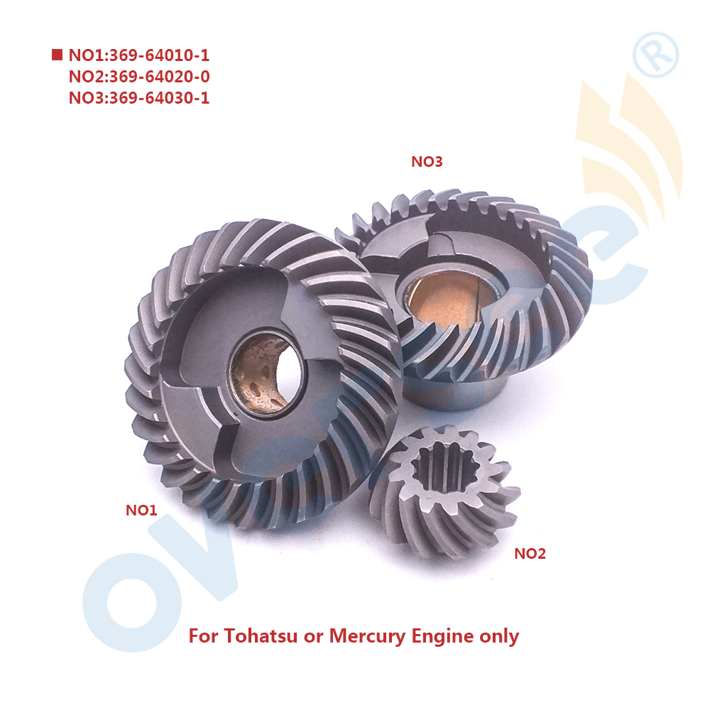 For Tohatsu Nissan <font><b>Outboard</b></font> <font><b>Motor</b></font> Gear 2 <font><b>2.5HP</b></font> 3.5 4HP 5HP 6HP 369-64020 369-64010 369-64030 FOR a SET image