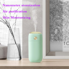 Mini Air Humidifier USB Purifier Home Office Car Steam LED Air Aromatherap with LED Night Lamp Ultrasonic Aroma Humidifier T9#(China)