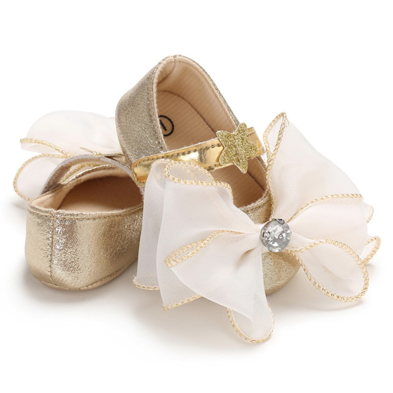 Cute Baby Girl Flower 2018 New Hot PU Princess Shoes Toddler Soft Bottom Anti-skid Spring Autumn Fashion First Walkers Crib Shoe
