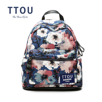 TTOU Teenager Floral Printed Backpacks Women's bag Canvas Backpack Casual School Backpack Design For Teen Girls