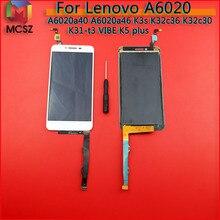 Dla Lenovo Vibe K5 Plus A6020a40 A6020a46 złoty biały czarny ekran lcd Monitor + Digitizer ekran dotykowy szkło montaż